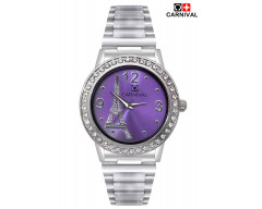 CARNIVAL ANALOG METAL WATCH FOR WOMEN-C0026FM02