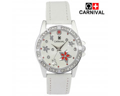 CARNIVAL ANALOG LEATHER WATCH FOR WOMEN-C0017L03