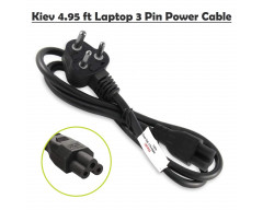 Kiev Laptop Power Cable Cord- 3 Pin Adapter (1.5 Meter/4.95 Feet)