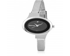 Fastrack Analog Black Dial Women's Watch - 6015SM02