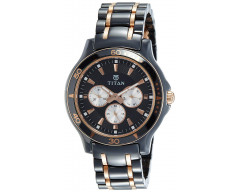 Titan Analog Black Dial Men's Watch - 90020KD02J