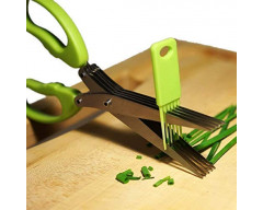 Herb Scissors with 5 Blades-Cutter, Chopper and Mincer