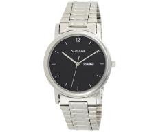 Sonata Analog Black Small Dial Men's Watch NL1013SM04